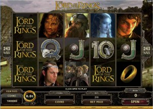 Play Lord of The Rings Online Pokie